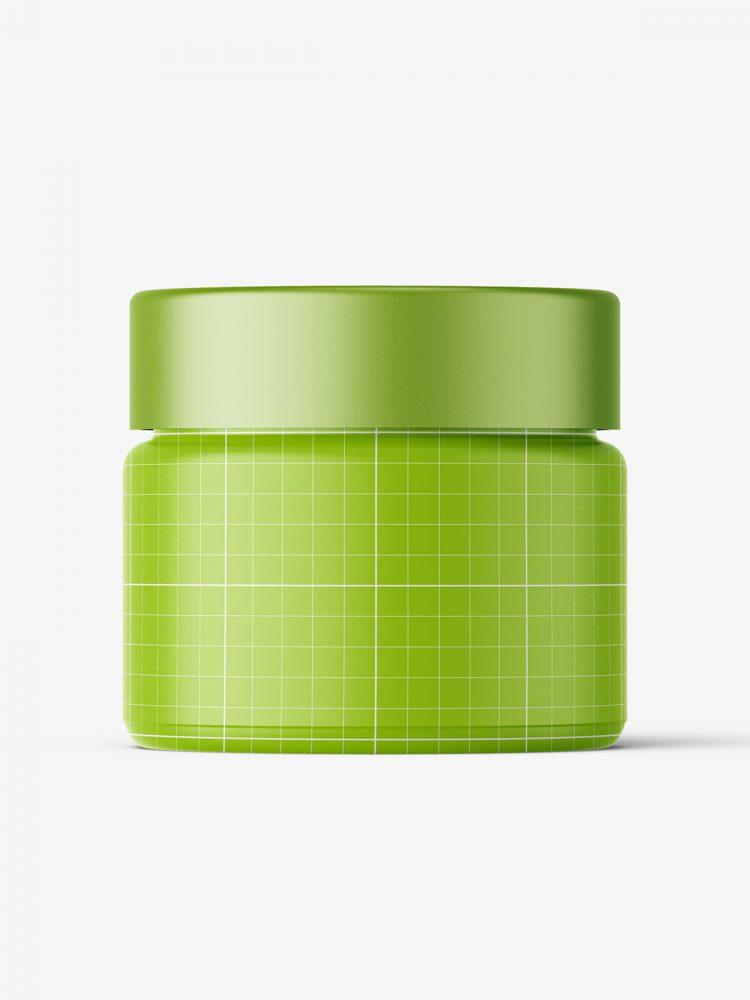 Cosmetic jar mockup with cap / 15ml / gel
