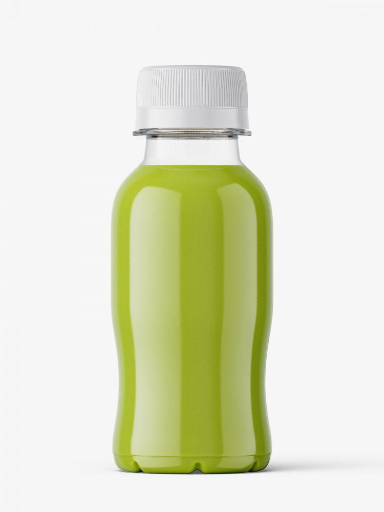 Small green juice bottle mockup