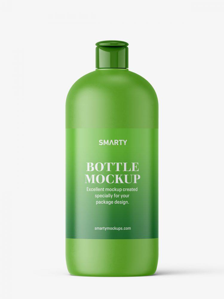 Matt bottle mockup with flip top mockup