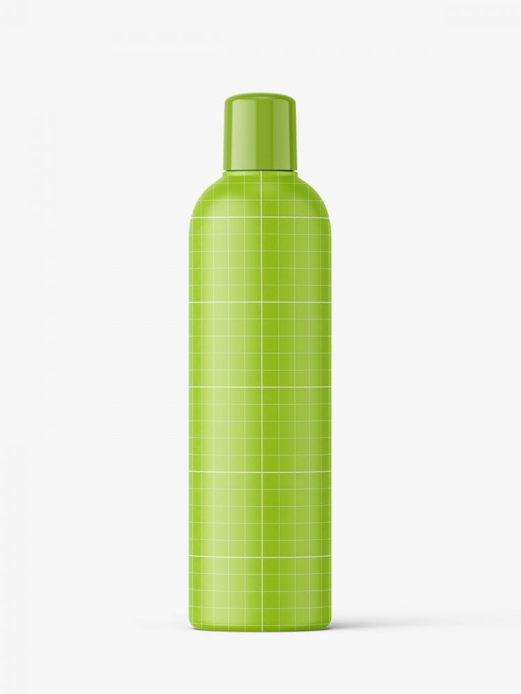 Matt bottle mockup with rounded screwcap mockup