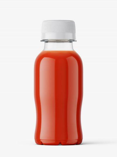 Small tomato juice bottle mockup