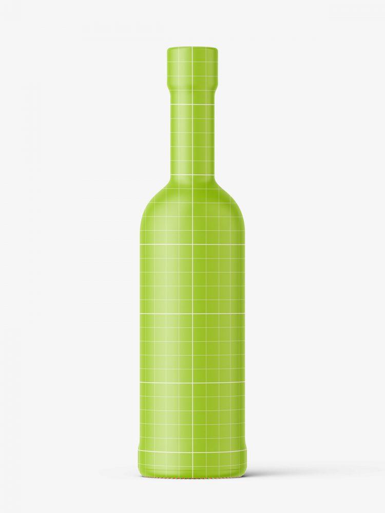 Small rose wine bottle mockup