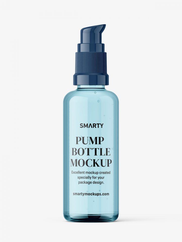 Airless pump bottle mockup / amber