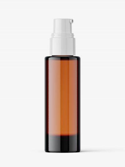 Airless dispenser bottle mockup / amber