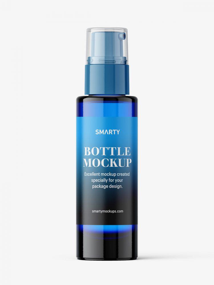 Airless dispenser bottle mockup / blue