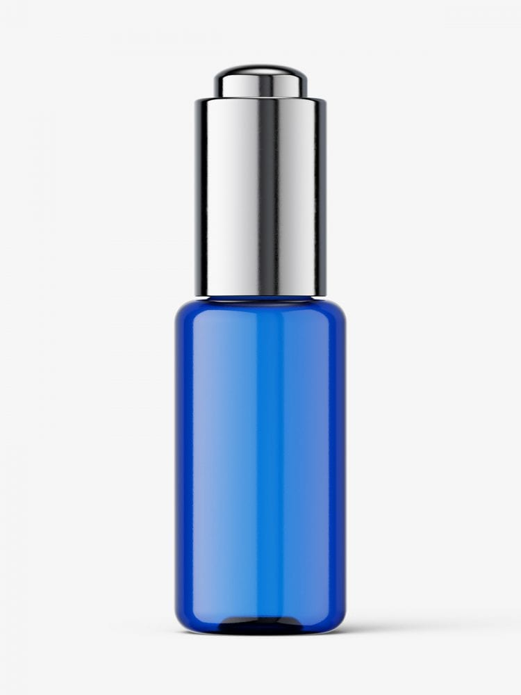 Button dropper bottle / blue