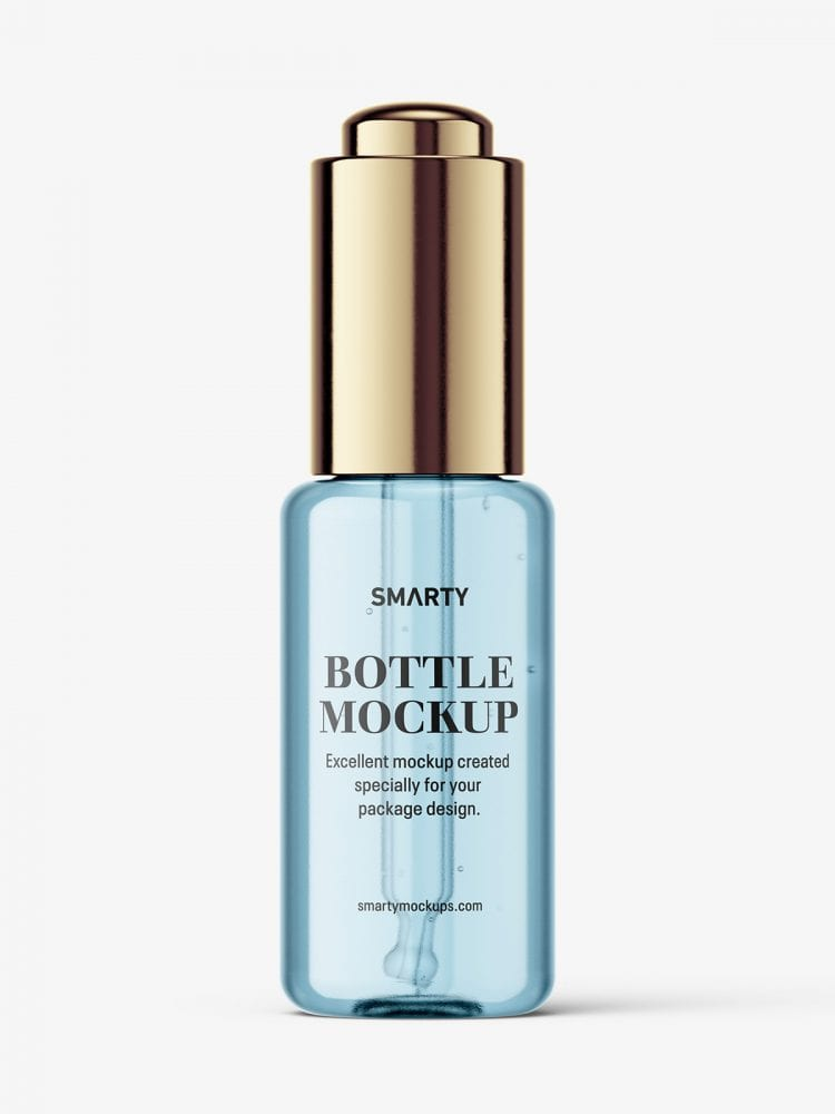 Button dropper bottle / clear