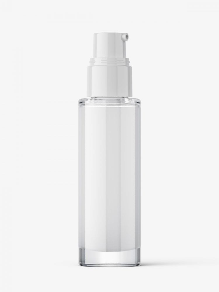 Airless dispenser bottle mockup / cream