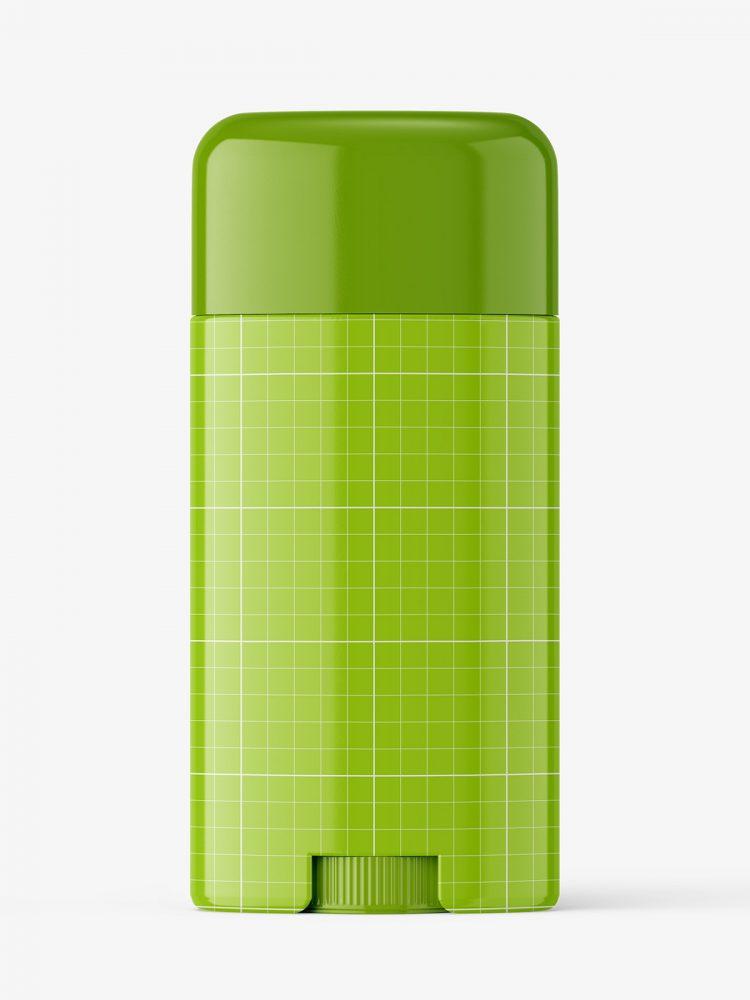 Glossy deodorant tube mockup