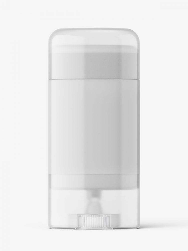 Semi transparent deodorant tube mockup