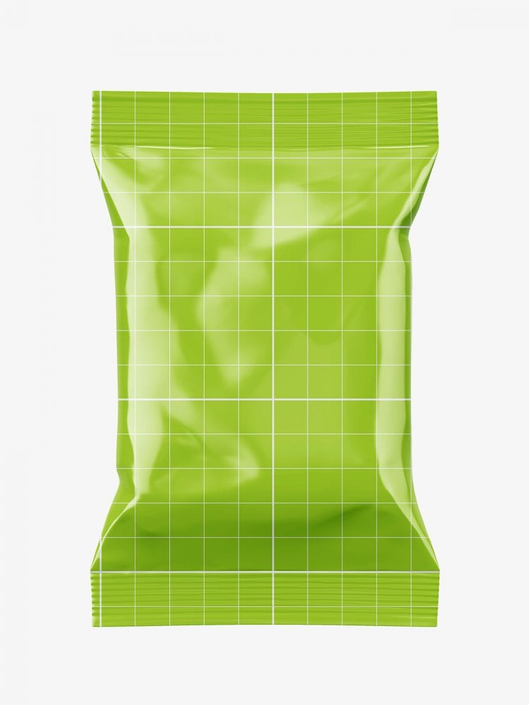 Food pouch mockup / glossy
