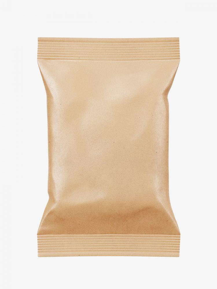 Food pouch mockup / kraft paper