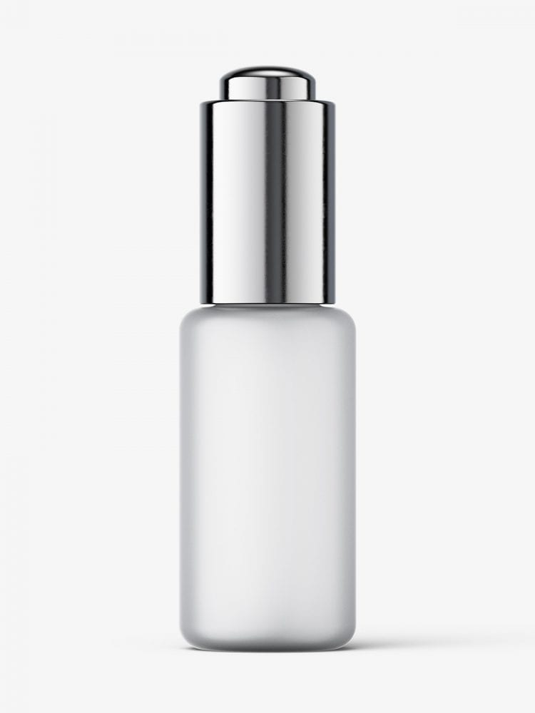 Button dropper bottle / frosted