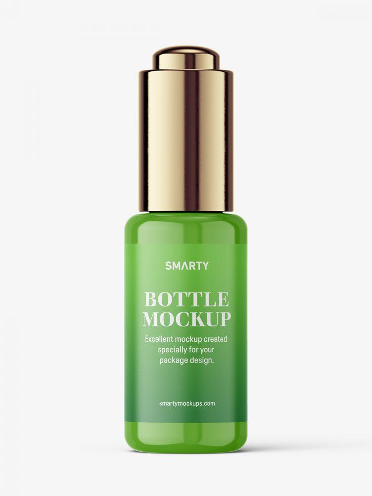 Button dropper bottle / glossy