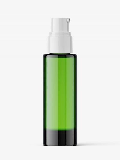 Airless dispenser bottle mockup / green