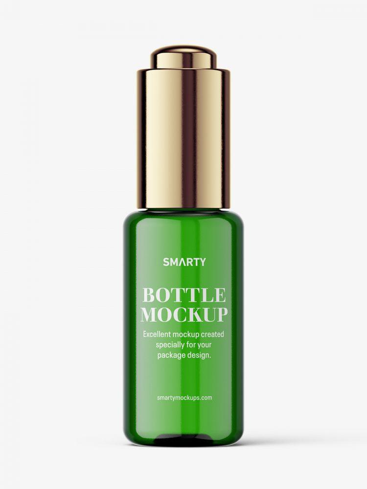 Button dropper bottle / green