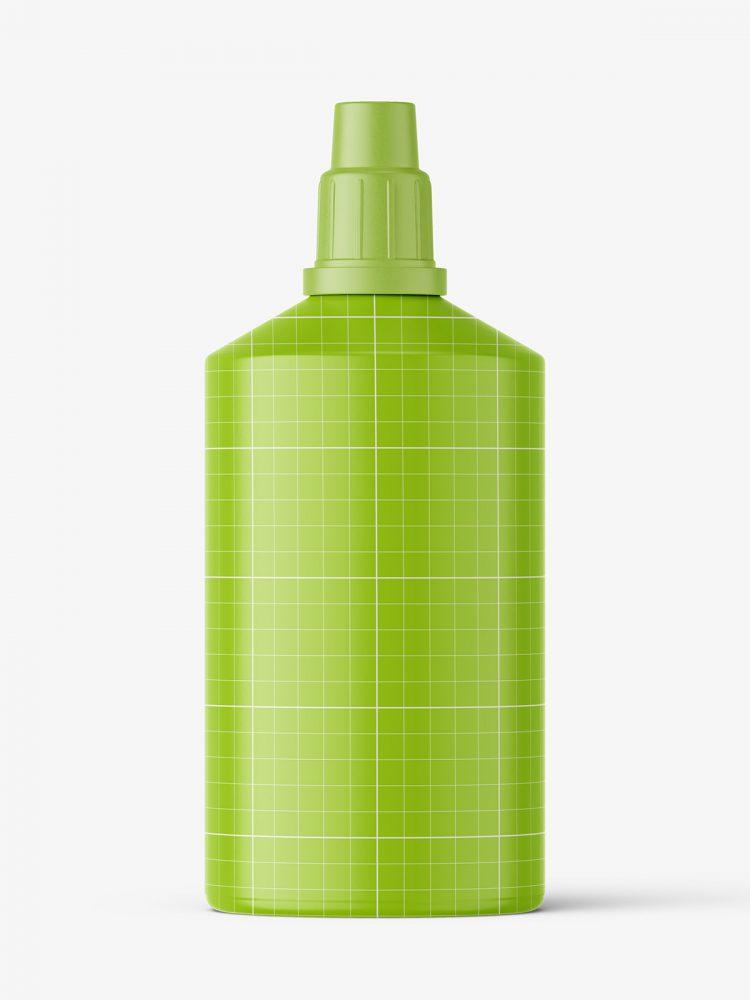 Hydrogen peroxide bottle mockup / matt