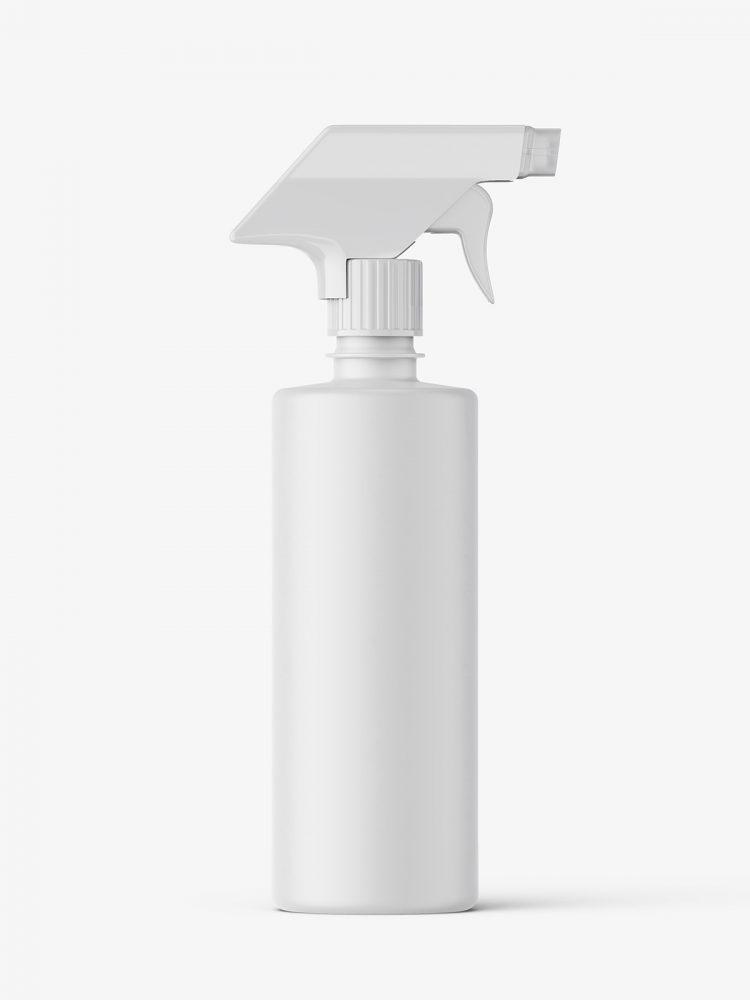 Matt bottle mockup with trigger spray mockup