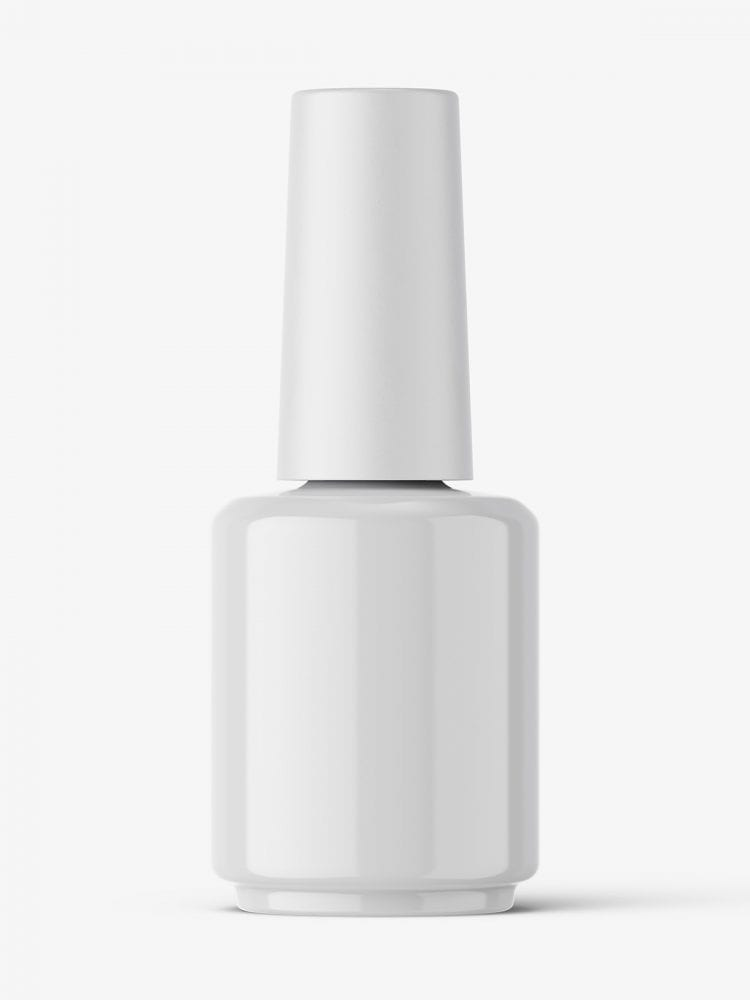 Nail polish bottle mockup / glossy