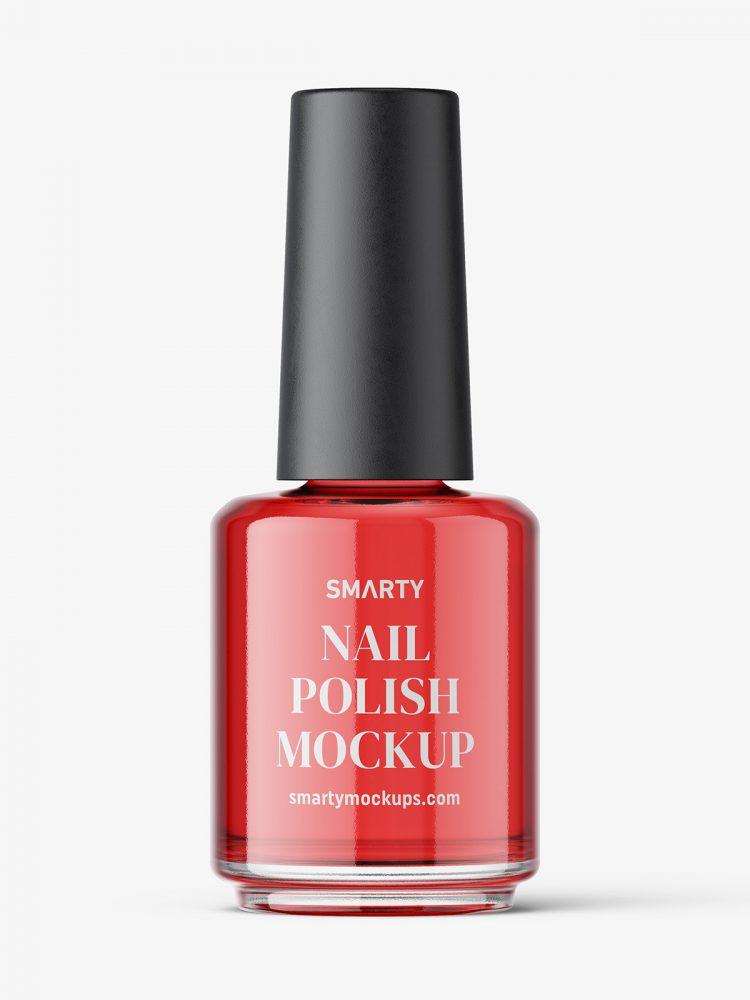 Nail polish bottle mockup / glossy