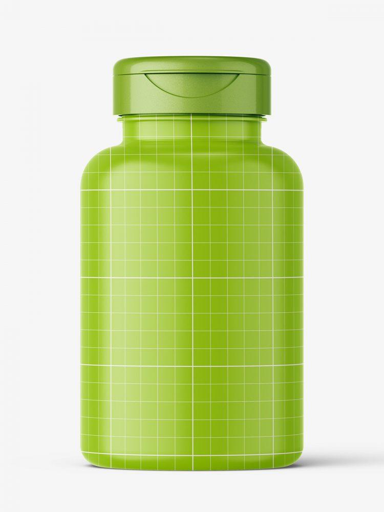 Clear plastic jar mockup