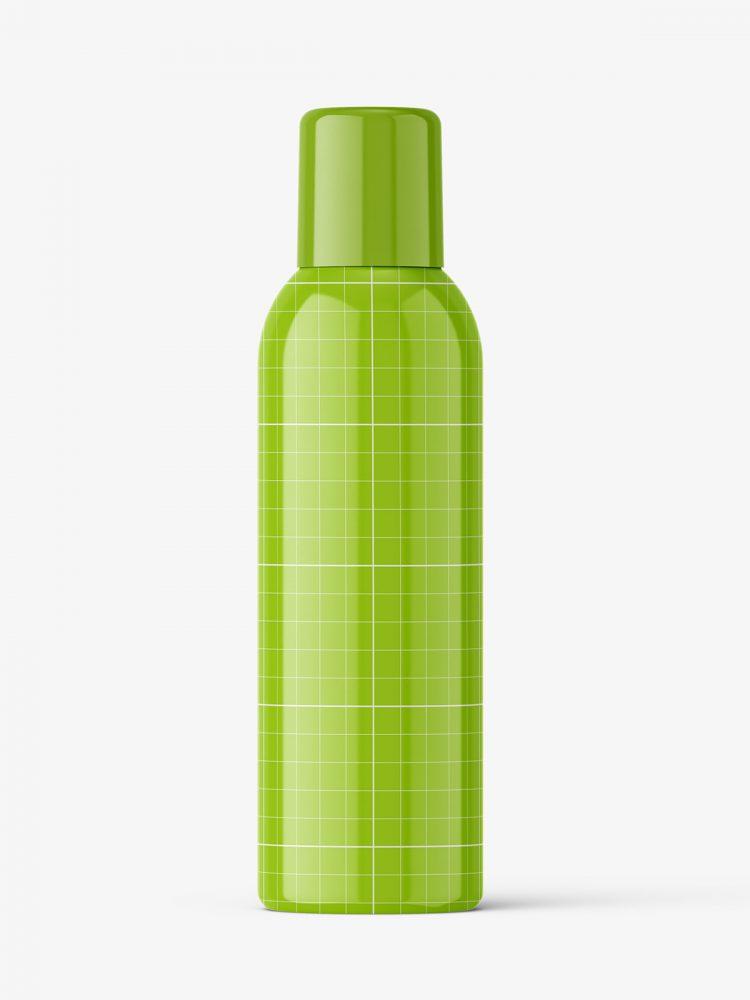 Closed aerosol bottle mockup / glossy