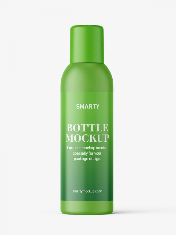 Closed aerosol bottle mockup / matt