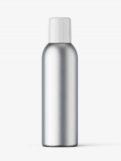 Closed aerosol bottle mockup / metallic