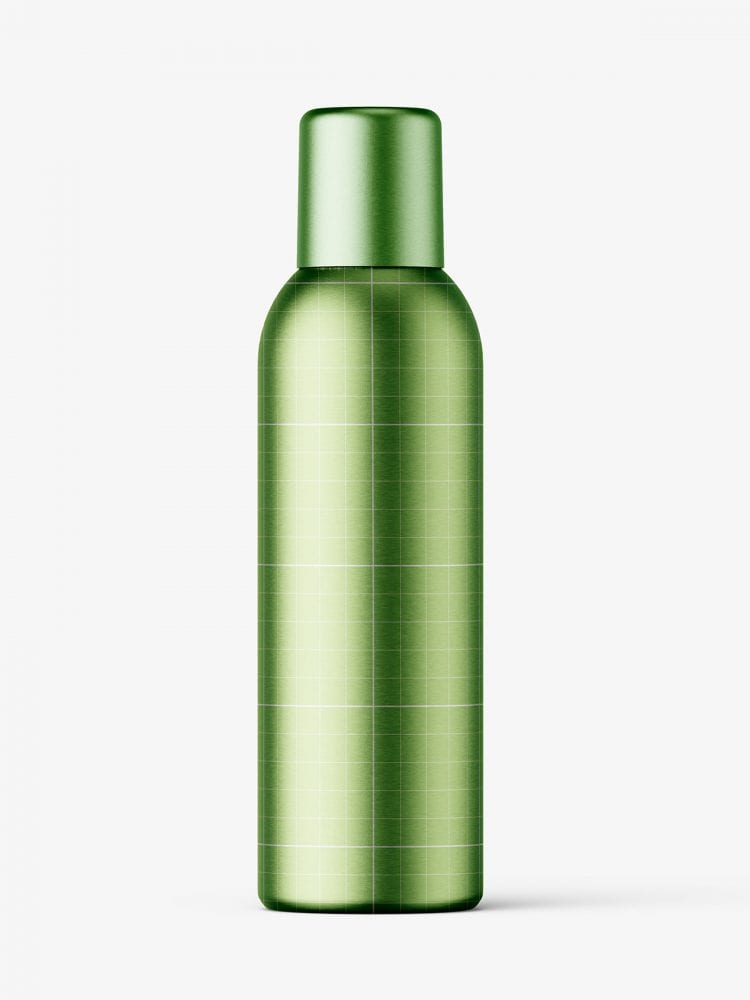 Closed aerosol bottle mockup / metallic