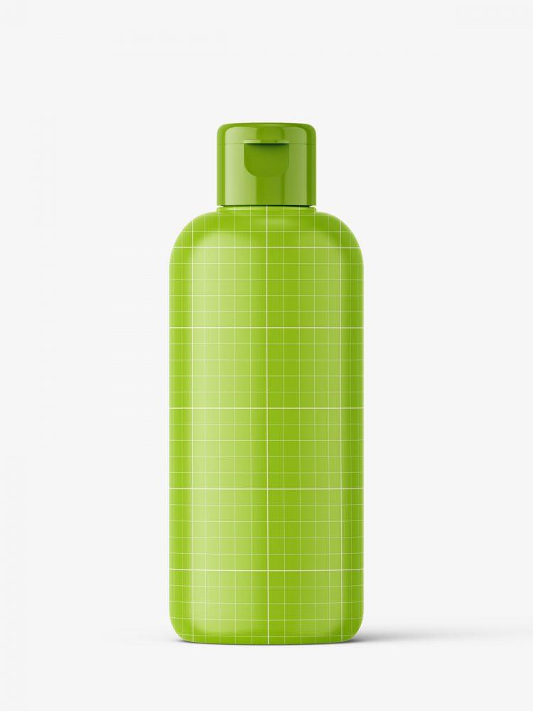 Amber bottle mockup with flip top mockup
