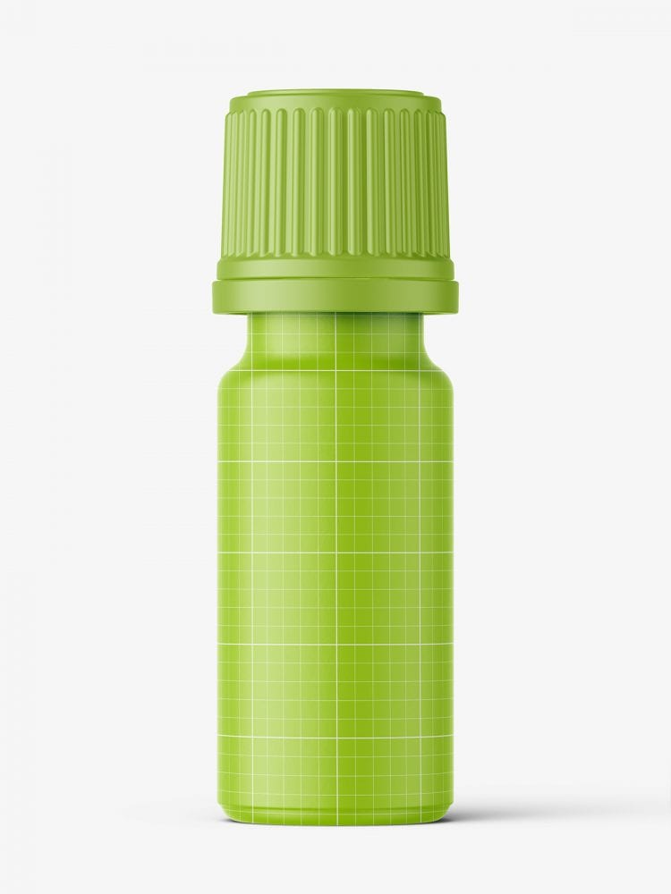 Clear bottle with pills mockup / 10 ml