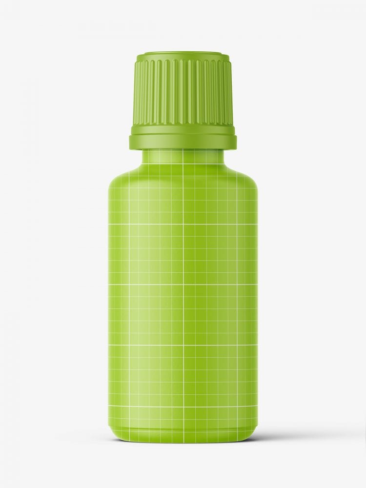Clear bottle with pills mockup / 30 ml