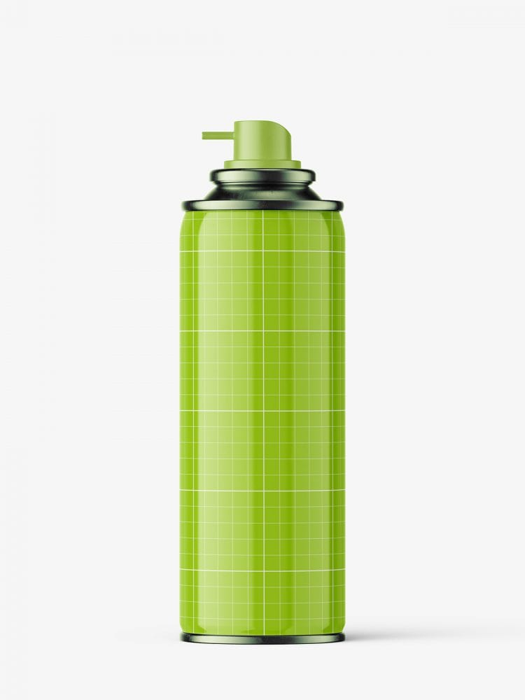 Glossy spray can mockup