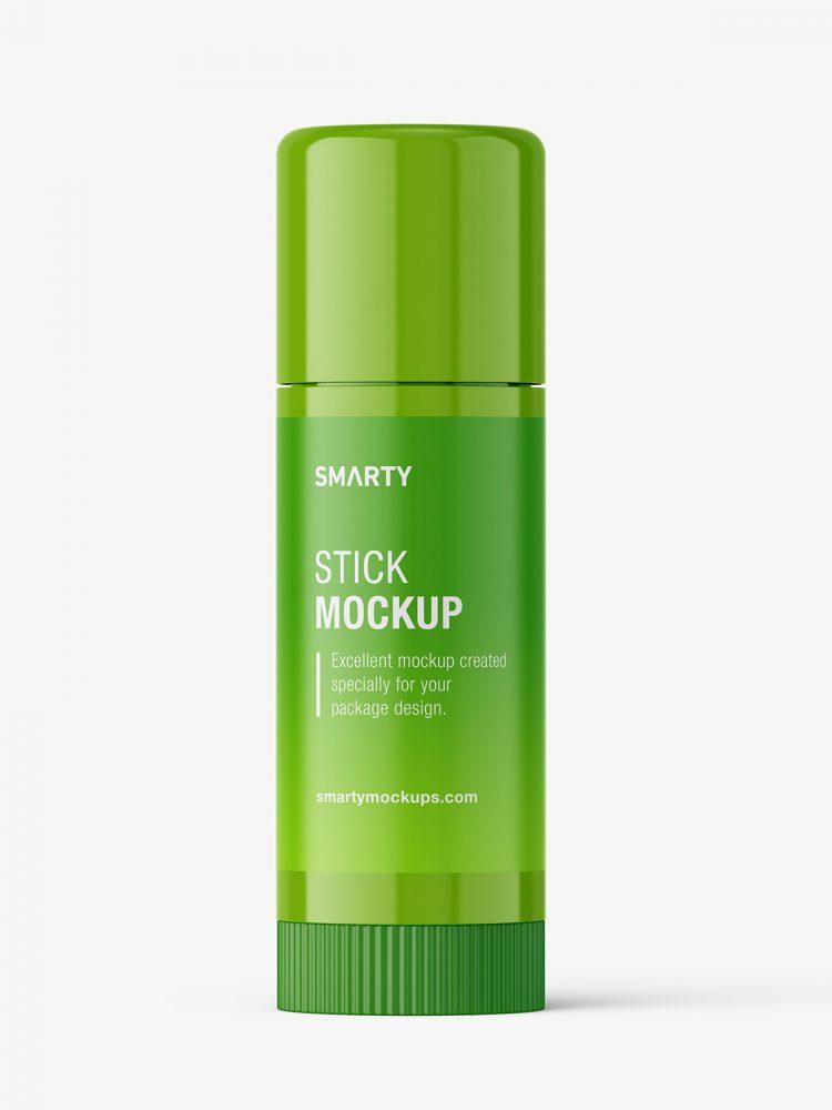 Closed deo stick mockup / glossy