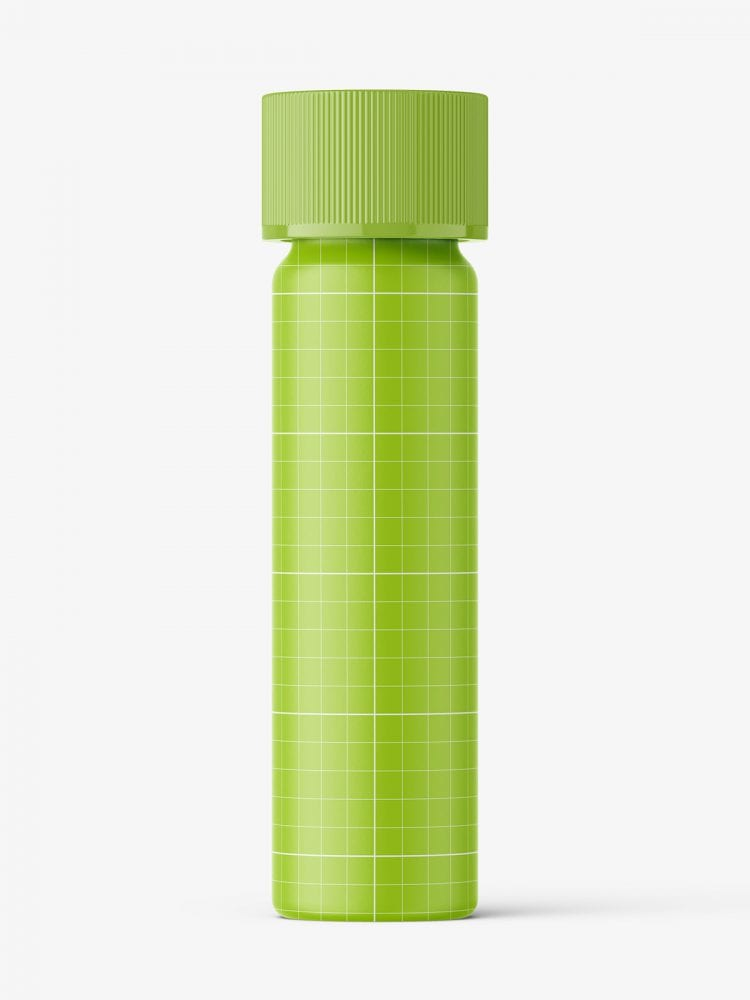 Bottle with herbal pills mockup