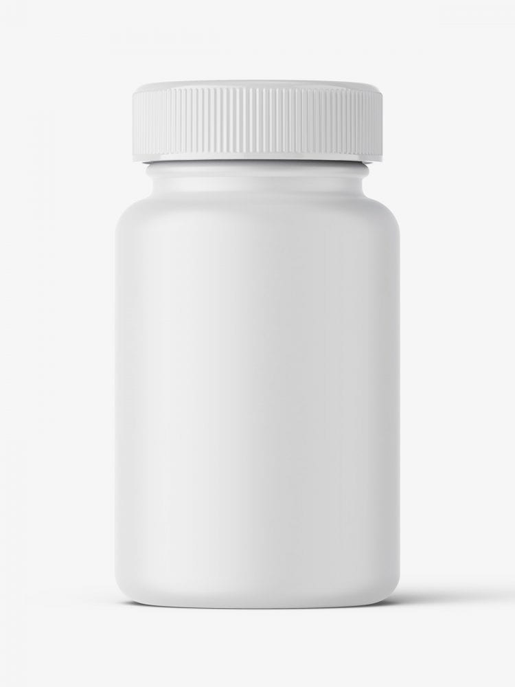 Matt pharmaceutical jar mockup