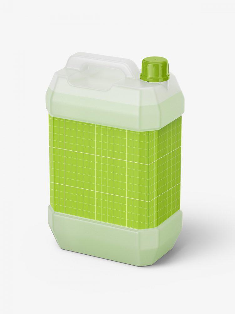 Semi transparent jug mockup