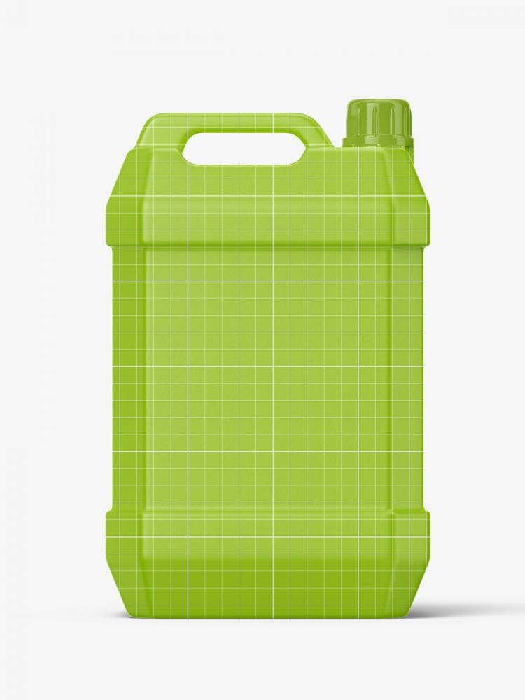 Semi transparent jug mockup