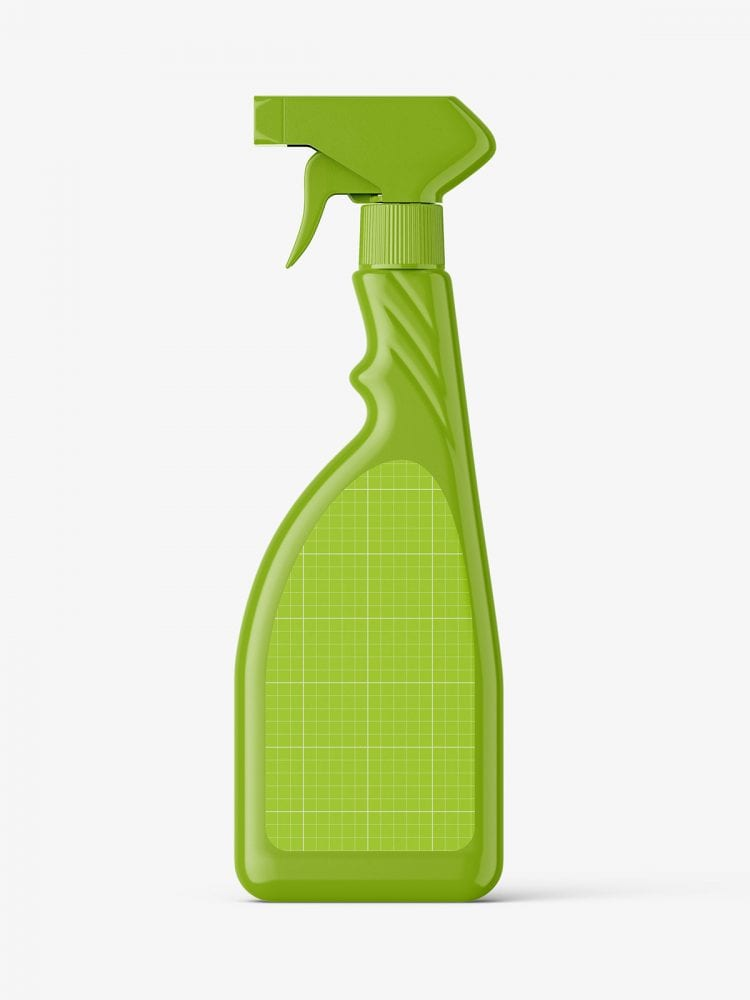 Bottle with trigger spray mockup