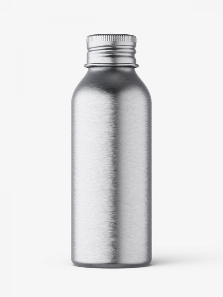 Aluminium screw lid bottle mockup
