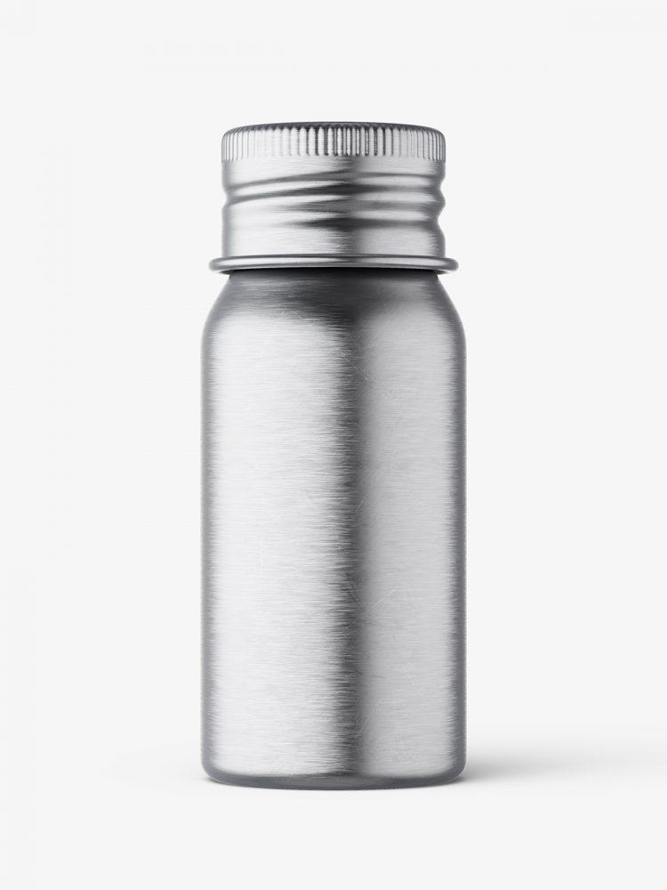Aluminium screw lid bottle mockup