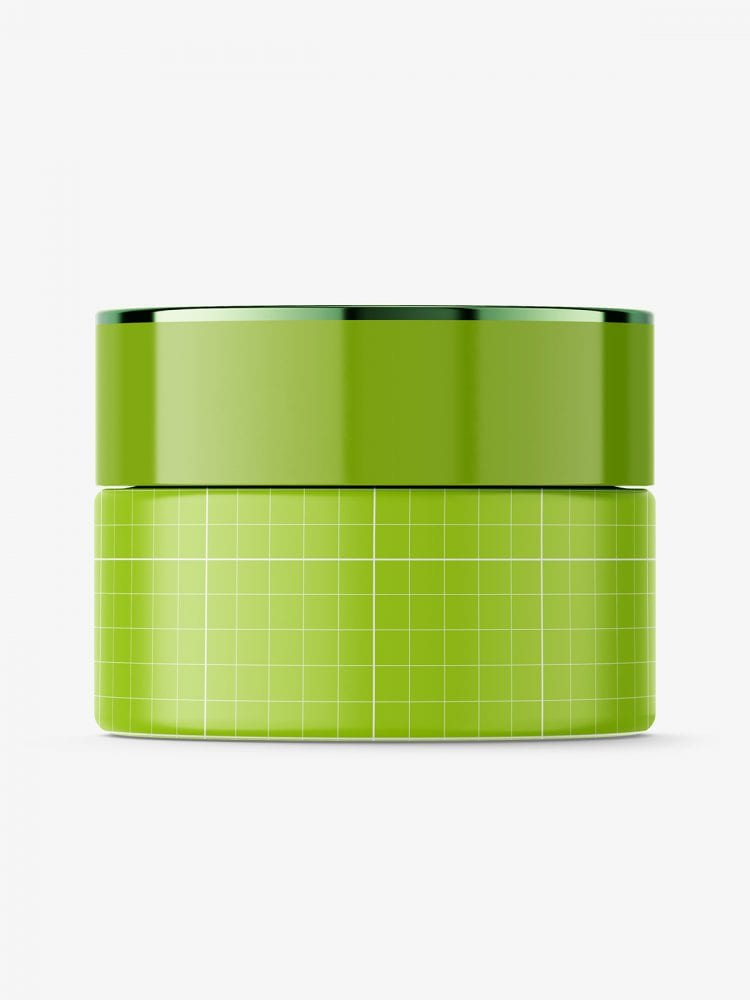 Cosmetic glass jar mockup / clear