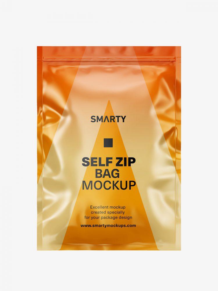 Heat seal bag mockup / glossy