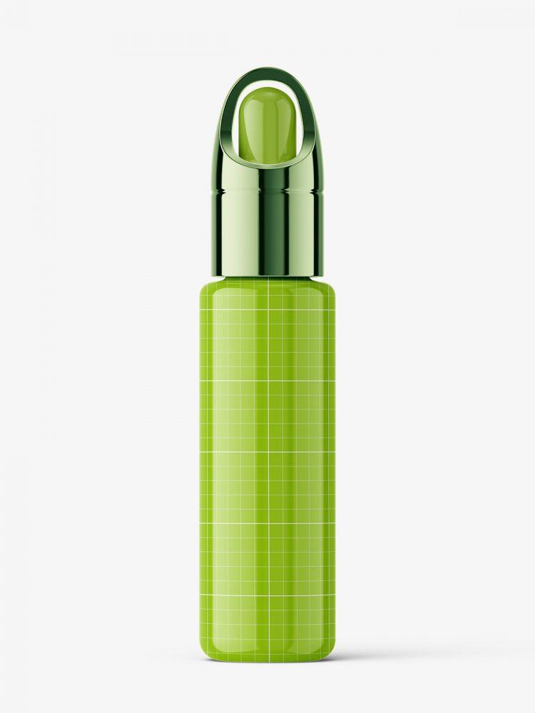 Glossy serum bottle mockup
