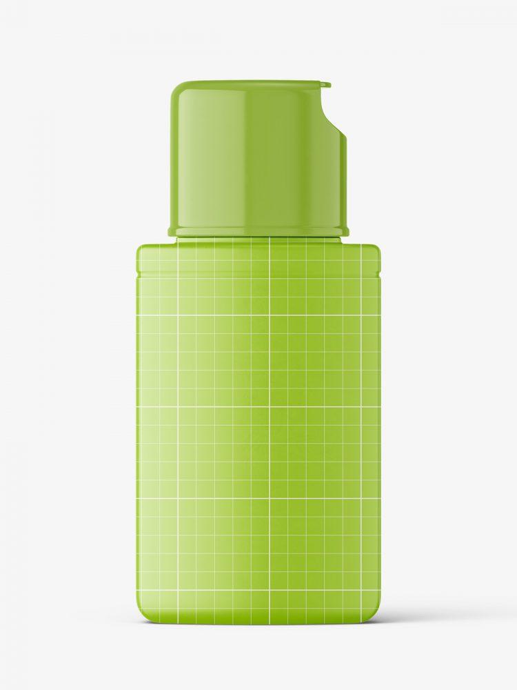Matt shampoo bottle mockup