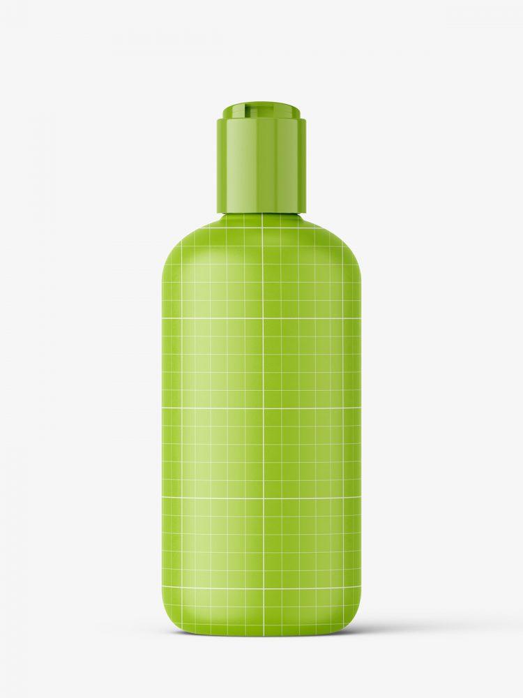 Bottle with disctop cap mockup / matt