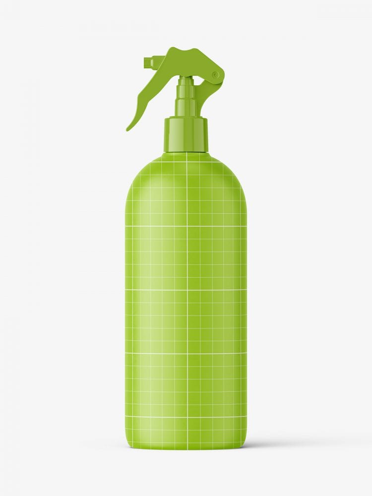 Bottle with trigger spray mockup / matt