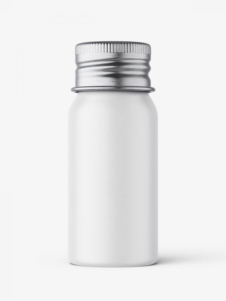 Aluminium screw lid bottle mockup / matt