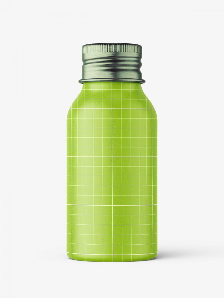 Aluminium screw lid bottle mockup / matt