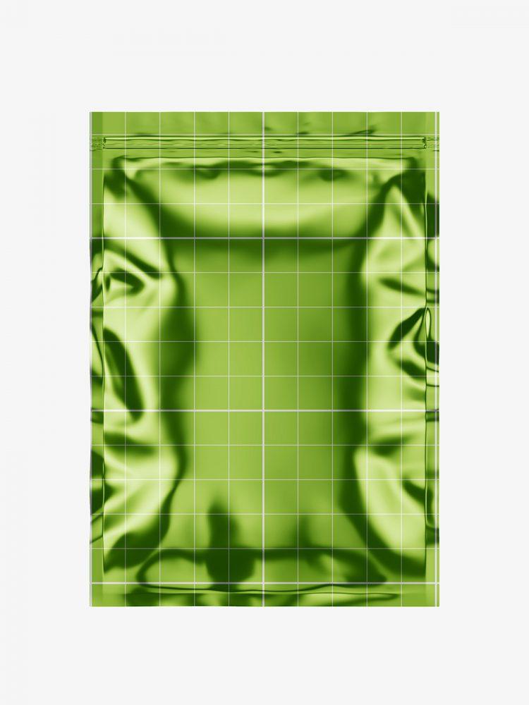 Heat seal bag mockup / metallic